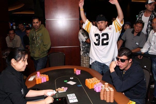 Hands up poker table Az State Poker Championship