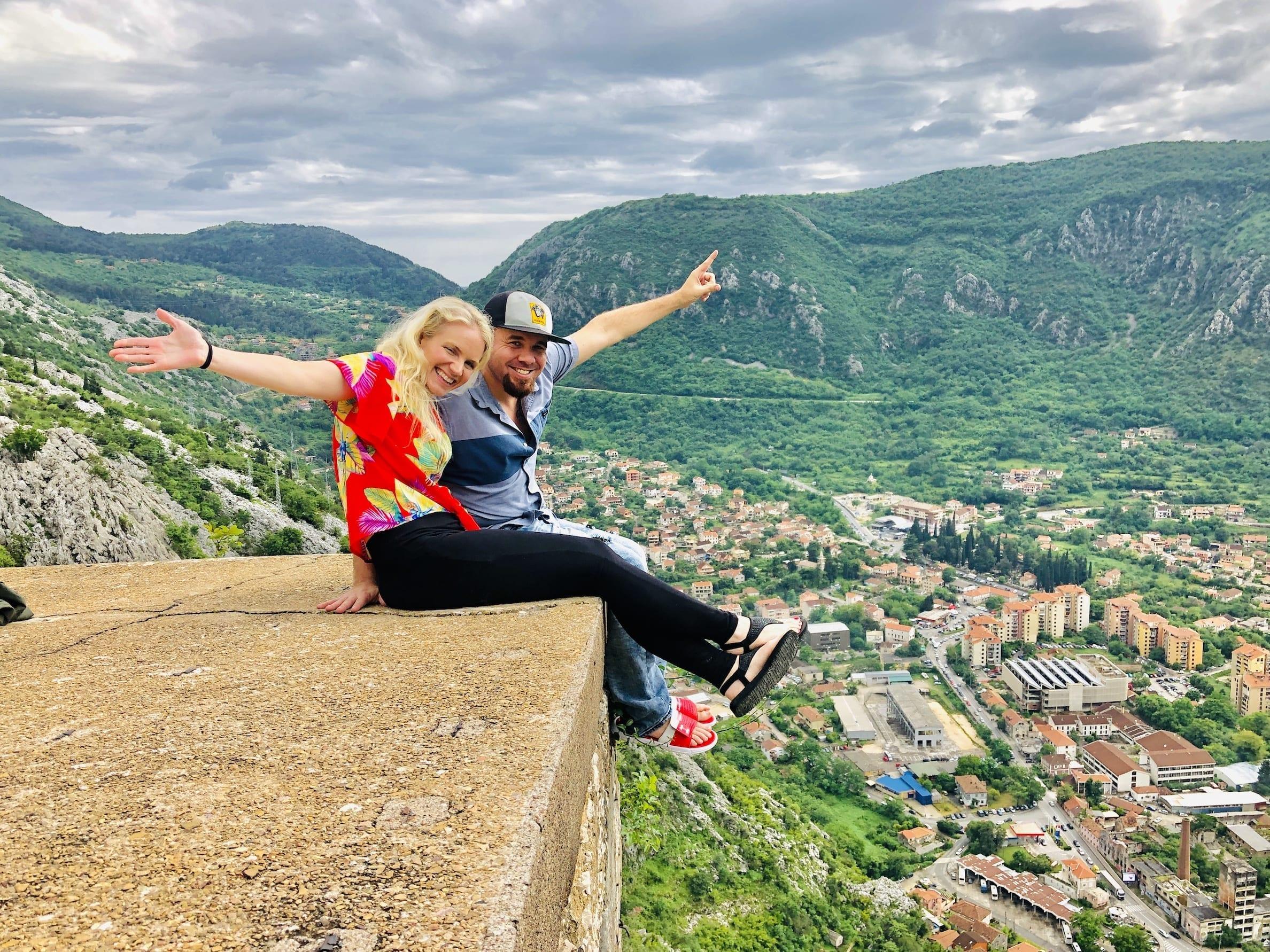 Top of Castle in Montengro