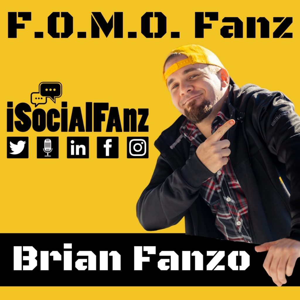 FOMOFanz Podcast Logo hosted by Digital Futurist Brian Fanzo